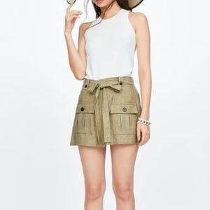 Zara Ground Tone Utility Skort XS